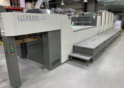 Machine: Komori Lithrone S 429 + Coating